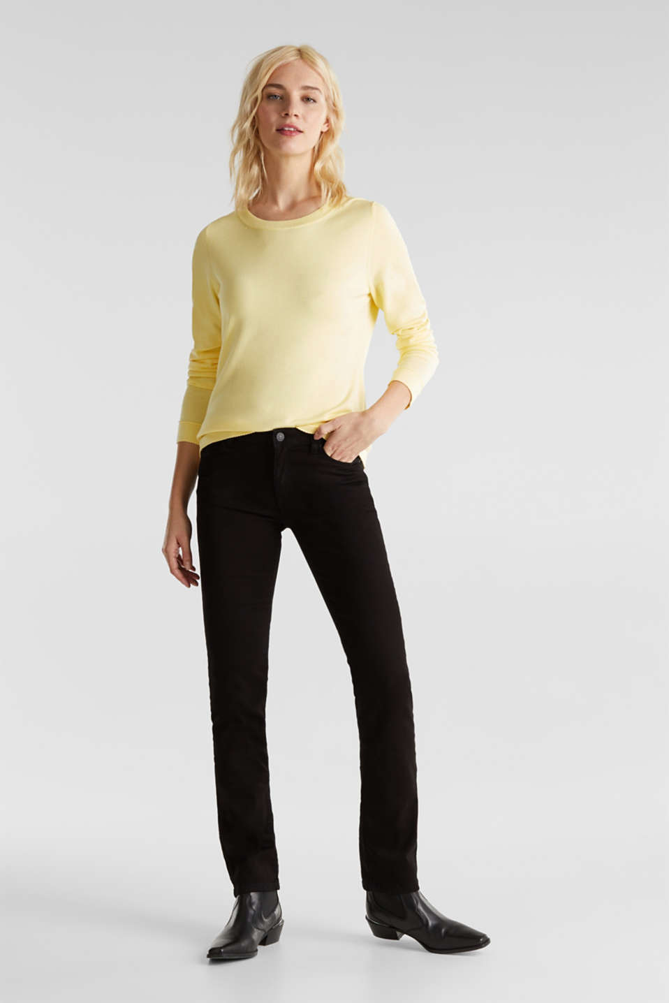 Jumper containing LENZING™ ECOVERO™, LIME YELLOW, detail image number 0