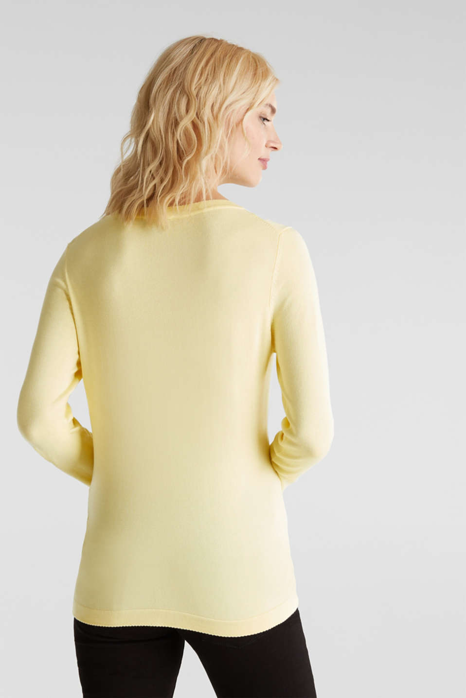 Jumper containing LENZING™ ECOVERO™, LIME YELLOW, detail image number 2
