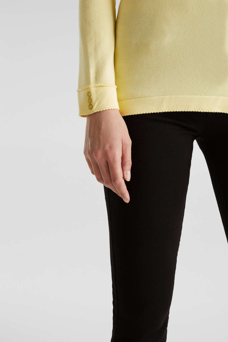 Jumper containing LENZING™ ECOVERO™, LIME YELLOW, detail image number 4
