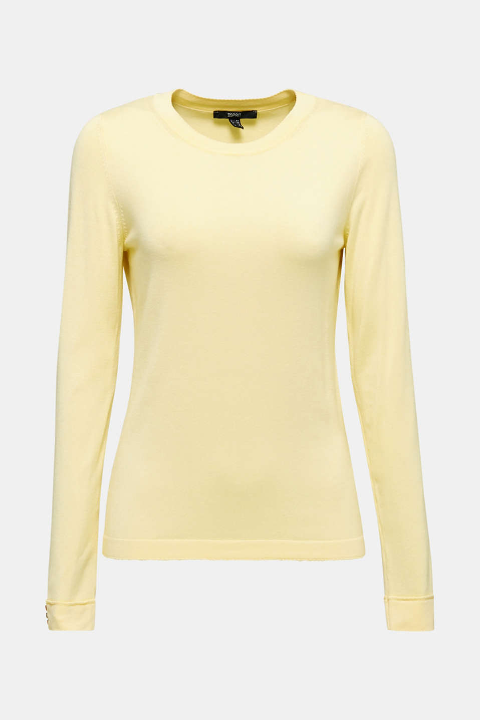 Jumper containing LENZING™ ECOVERO™, LIME YELLOW, detail image number 7