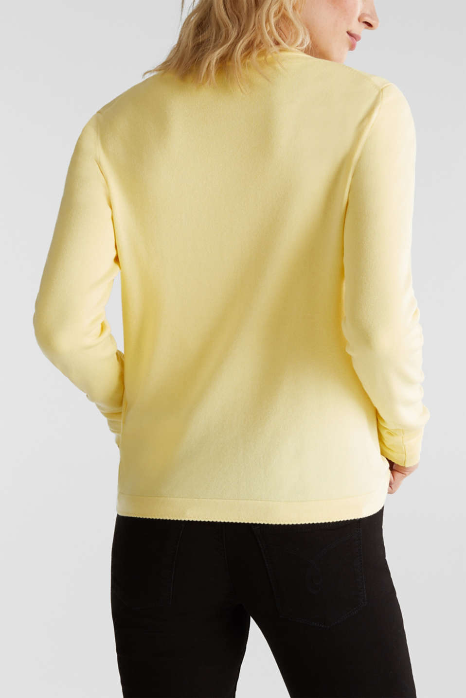 Cardigan containing LENZING™ ECOVERO™, LIME YELLOW, detail image number 3