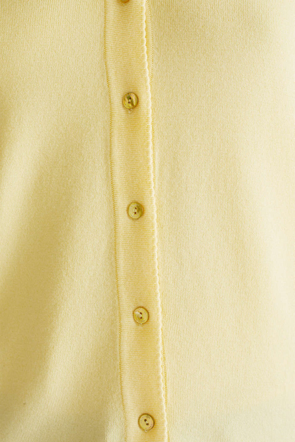Cardigan containing LENZING™ ECOVERO™, LIME YELLOW, detail image number 4