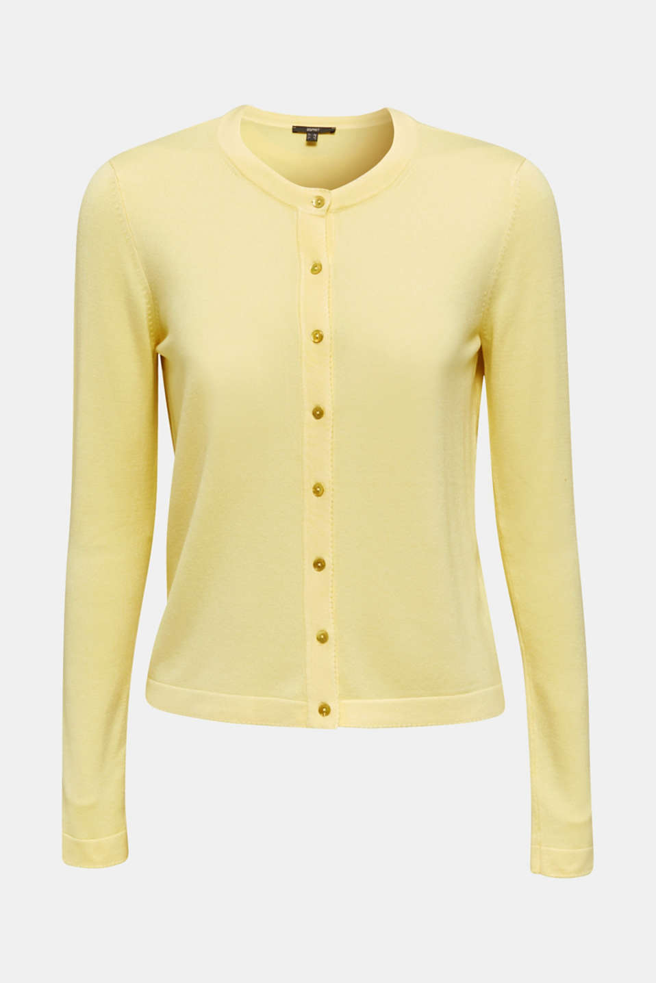 Cardigan containing LENZING™ ECOVERO™, LIME YELLOW, detail image number 5