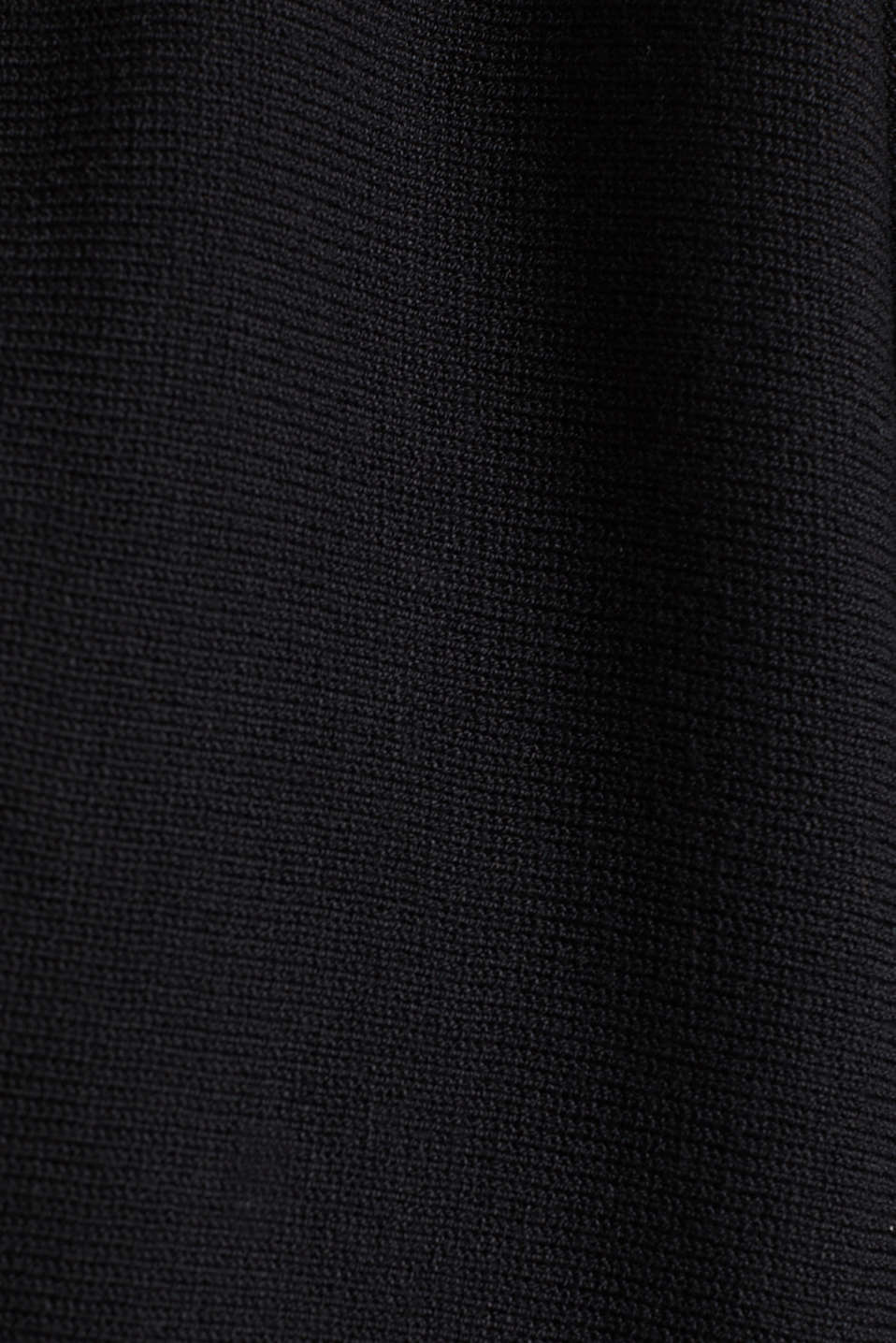 Fine-knit bolero with a scalloped edge, BLACK, detail image number 4
