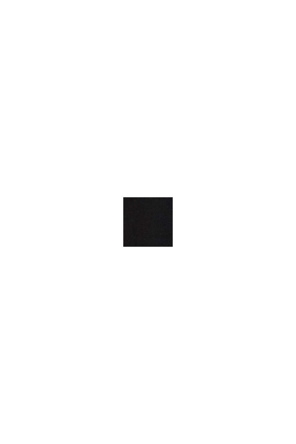 Fine-knit bolero with a scalloped edge, BLACK, swatch