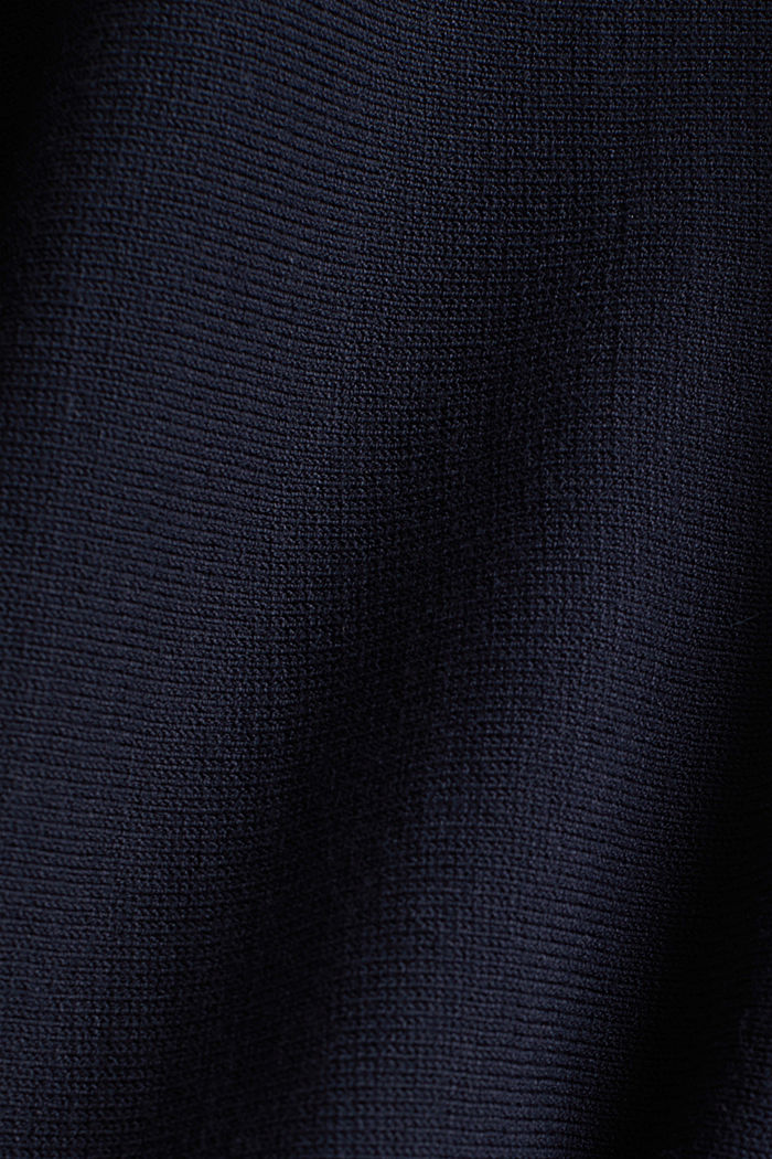 Fine-knit bolero with a scalloped edge, NAVY, detail image number 4