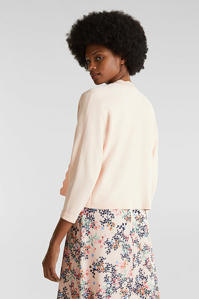 Fine-knit bolero with a scalloped edge, PASTEL PINK, detail image number 3
