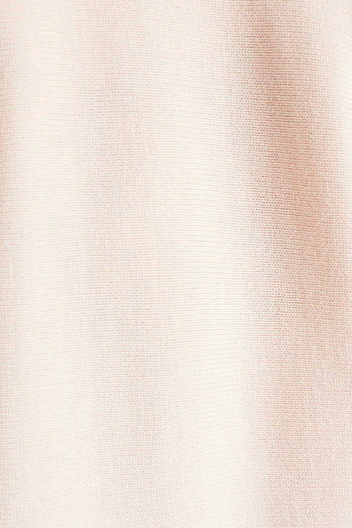 Fine-knit bolero with a scalloped edge, PASTEL PINK, detail image number 4