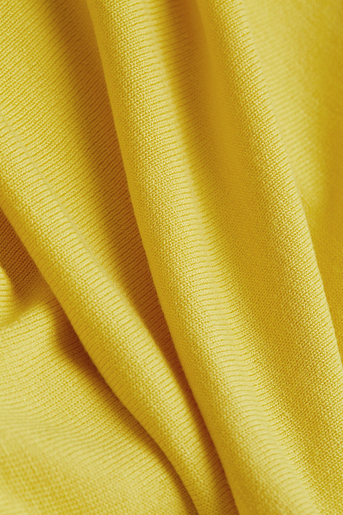 Fine-knit bolero with a scalloped edge, YELLOW, detail image number 3