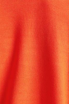 Fine-knit bolero with a scalloped edge, RED ORANGE, detail