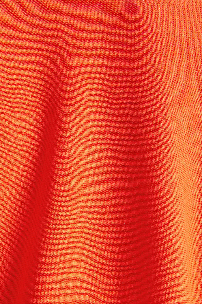 Feinstrick-Bolero mit Bogenkante, RED ORANGE, detail image number 4