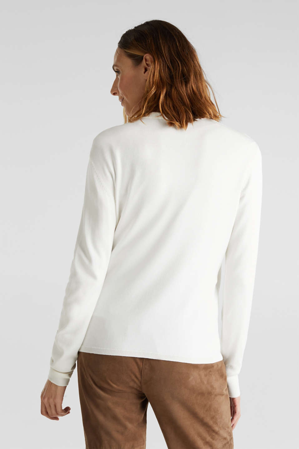 Stretch jumper with LENZING™ ECOVERO, OFF WHITE, detail image number 3