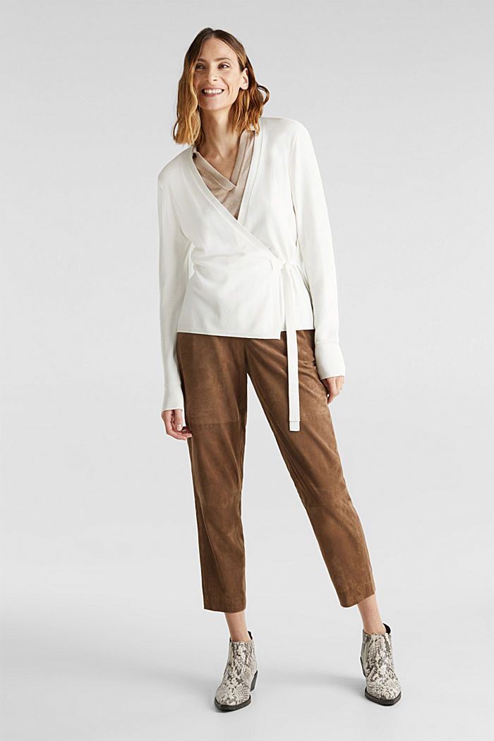 Stretch jumper with LENZING™ ECOVERO, OFF WHITE, detail image number 1
