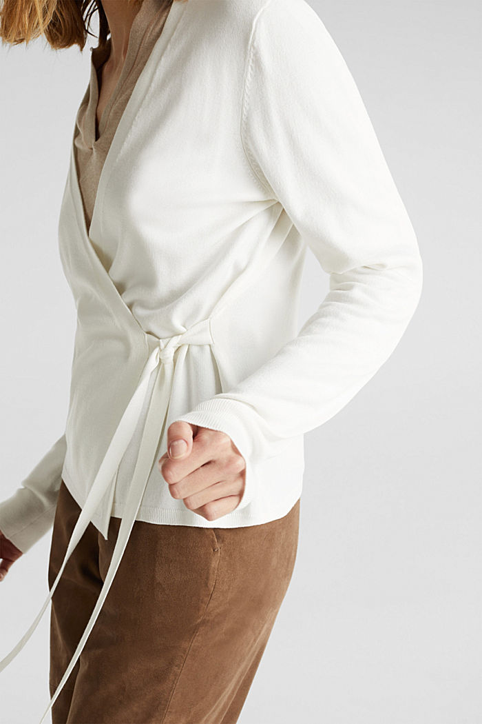 Stretch jumper with LENZING™ ECOVERO, OFF WHITE, detail image number 2