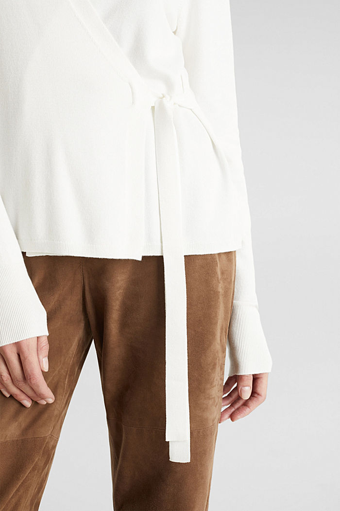 Stretch jumper with LENZING™ ECOVERO, OFF WHITE, detail image number 5