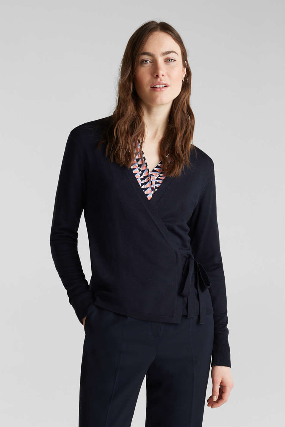 Stretch jumper with LENZING™ ECOVERO, NAVY, detail image number 0