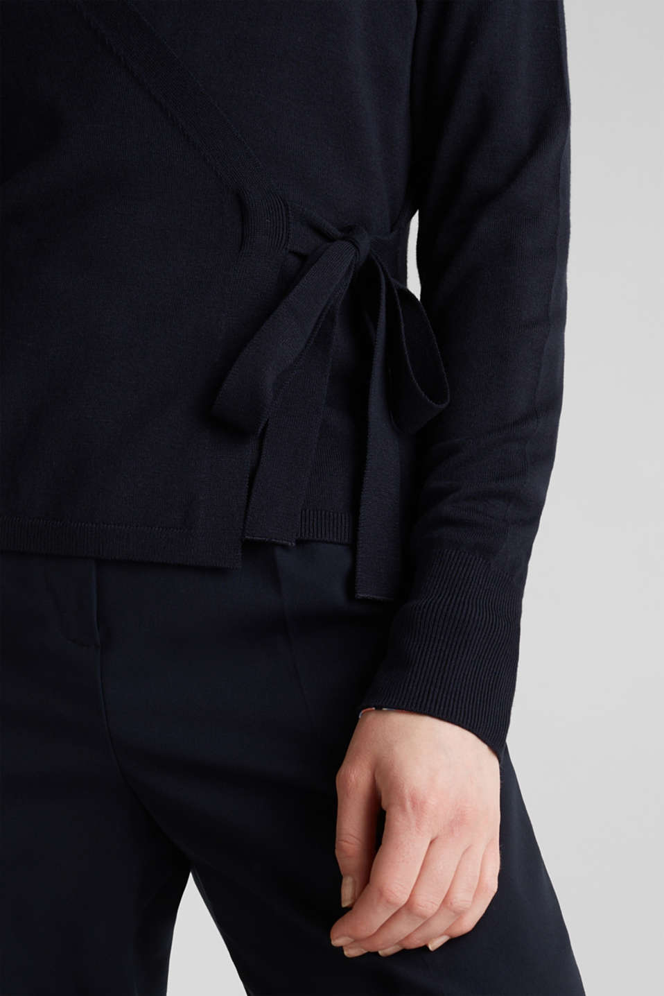 Stretch jumper with LENZING™ ECOVERO, NAVY, detail image number 2