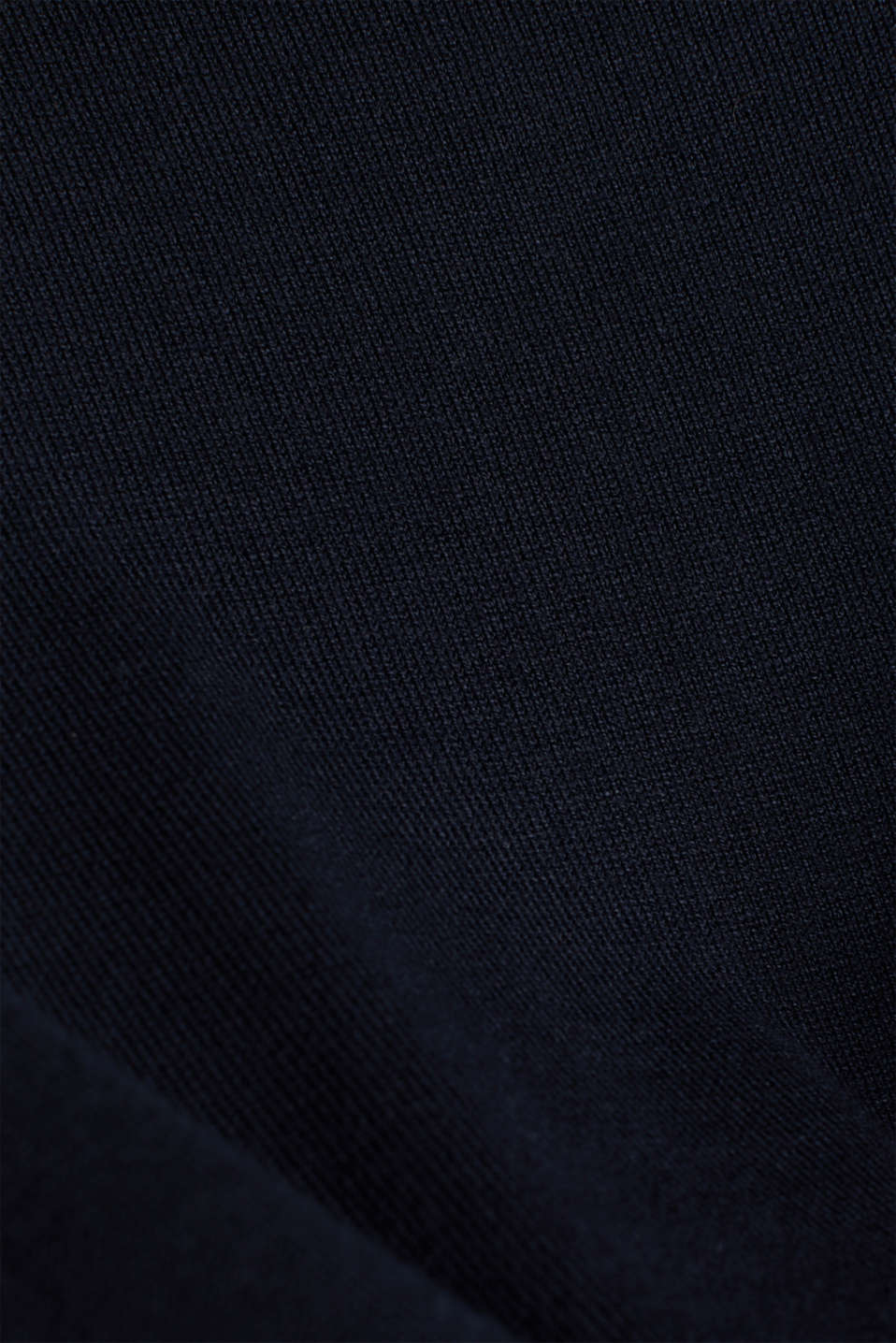 Short-sleeved jumper with stretch and LENZING™ ECOVERO™, NAVY, detail image number 3