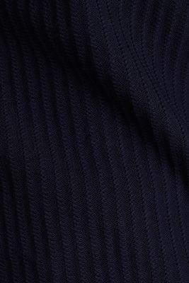 Textured jumper with a bateau neckline, NAVY, detail