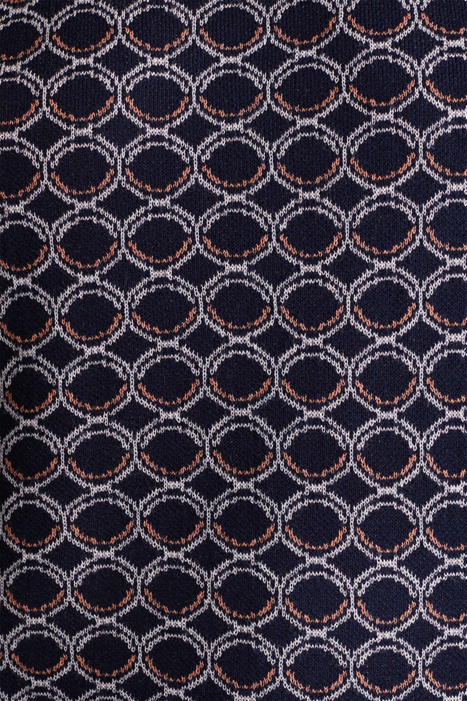 Short sleeve jumper with a graphic pattern, NAVY 4, detail image number 3