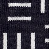 Short-sleeved jumper with a logo jacquard pattern, NAVY, swatch
