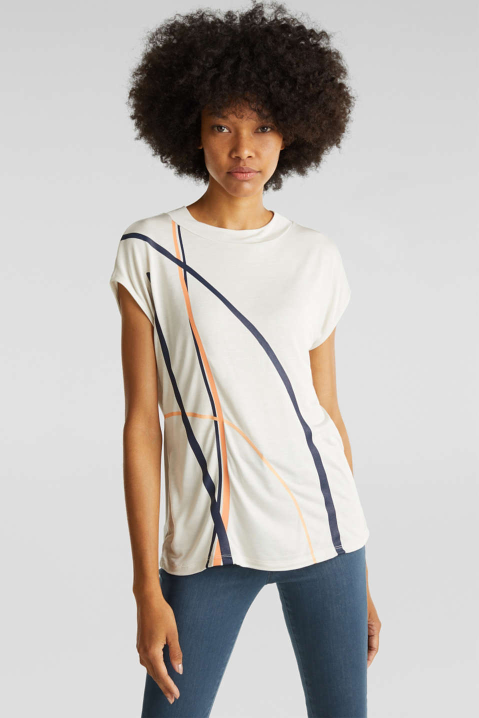 Top with a graphical front print, SAND, detail image number 0