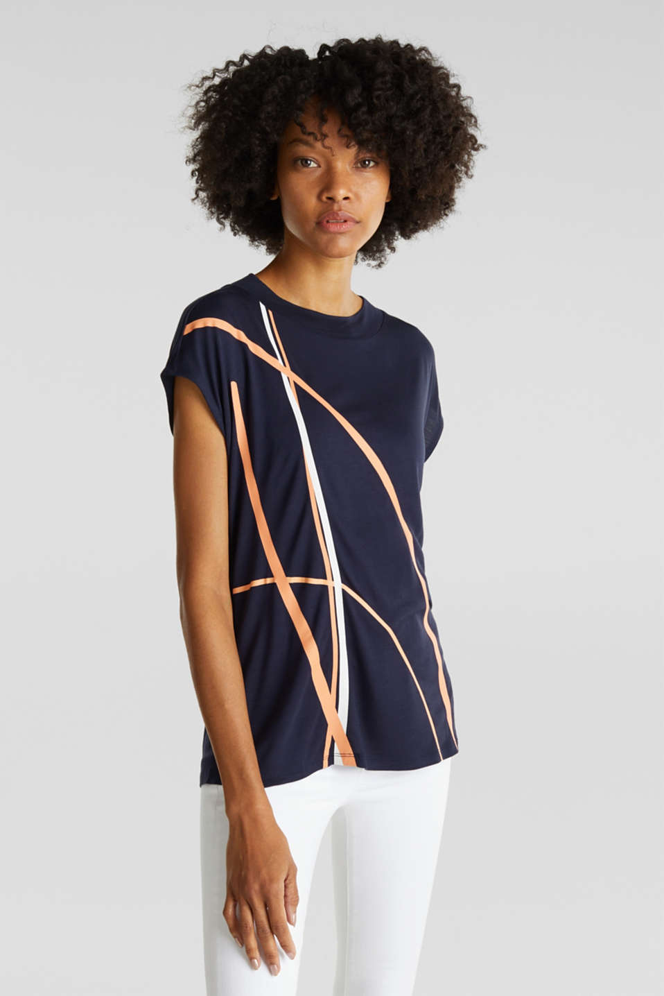 Esprit - Top with a graphical front print