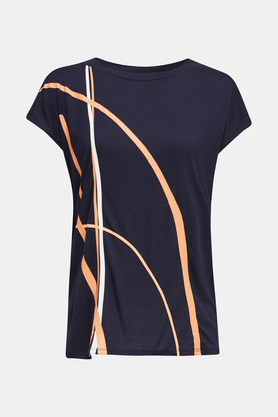 Top with a graphical front print, NAVY, detail image number 5