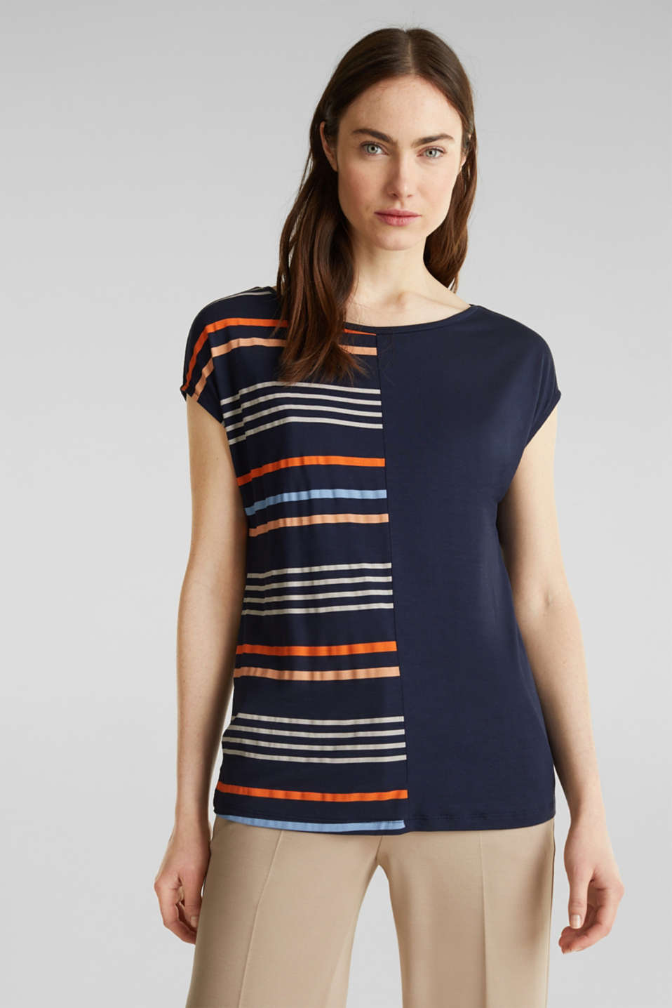 Esprit - Top with colour block stripes