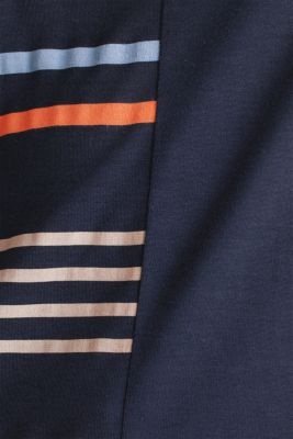Top with colour block stripes, NAVY, detail