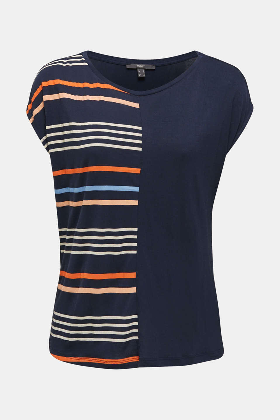 Top with colour block stripes, NAVY, detail image number 6