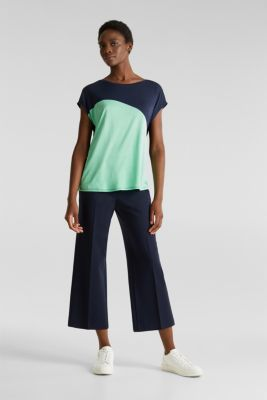 Colour block T-shirt in a new colour mix, NAVY, detail