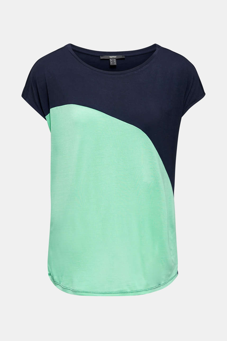 Colour block T-shirt in a new colour mix, NAVY, detail image number 8