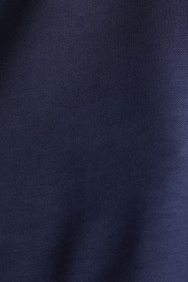 Piqué top with a patch pockets, NAVY, detail