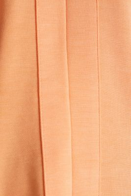 Piqué top with a patch pockets, ORANGE, detail
