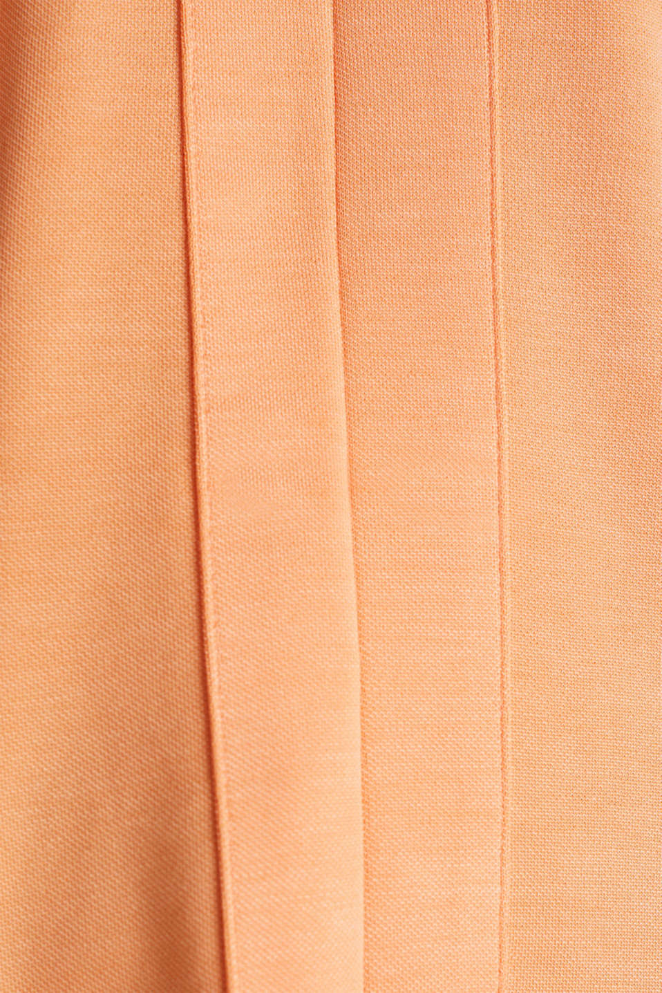 Piqué top with a patch pockets, ORANGE, detail image number 3