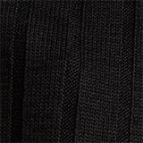 V-neck T-shirt with a ribbed texture and stretch, BLACK, swatch