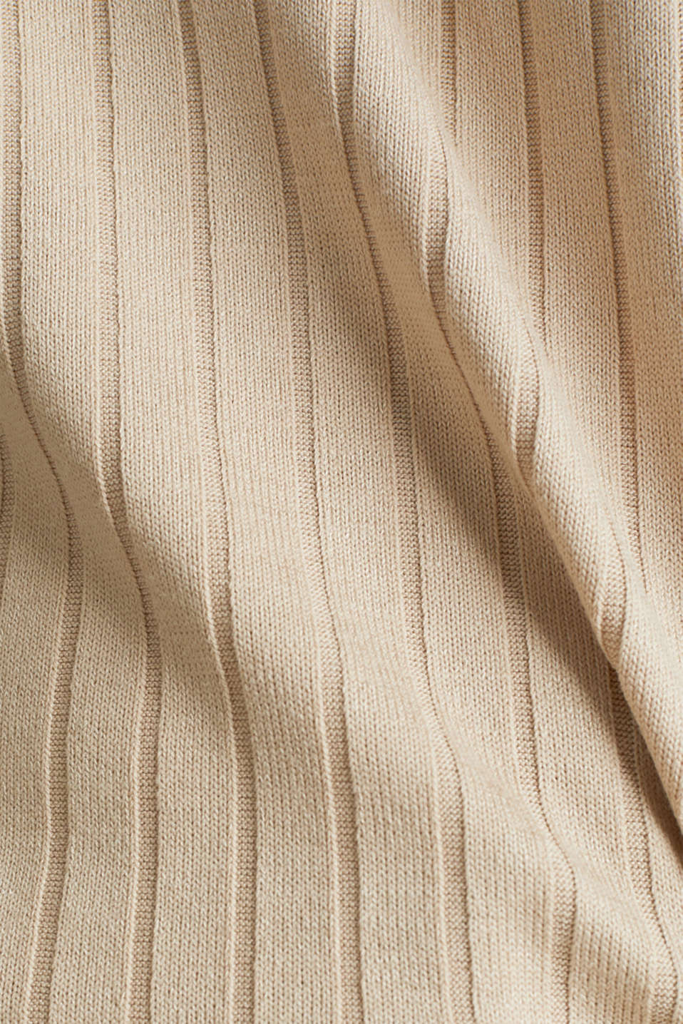 V-neck T-shirt with a ribbed texture and stretch, LIGHT BEIGE, detail image number 3