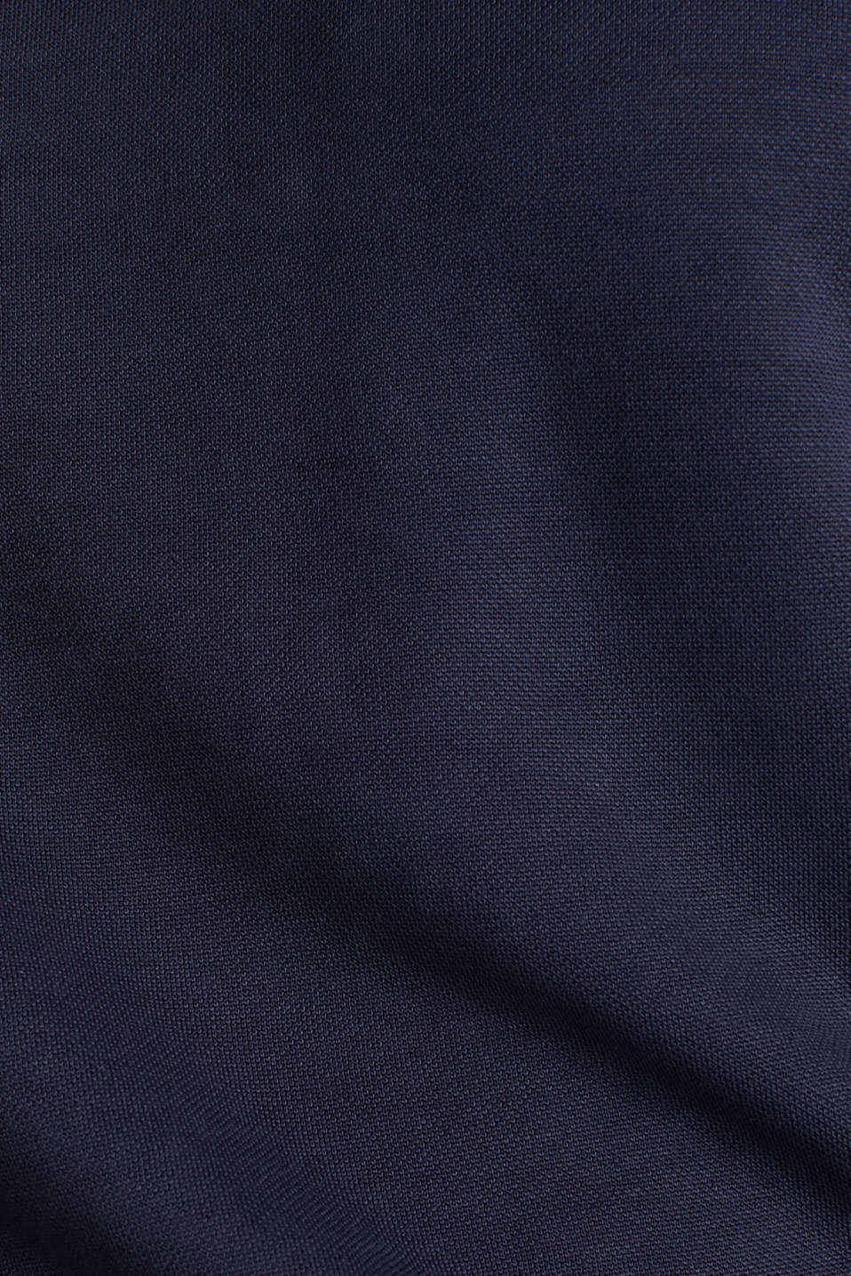 Piqué top with a wide decorative trim, NAVY, detail image number 4