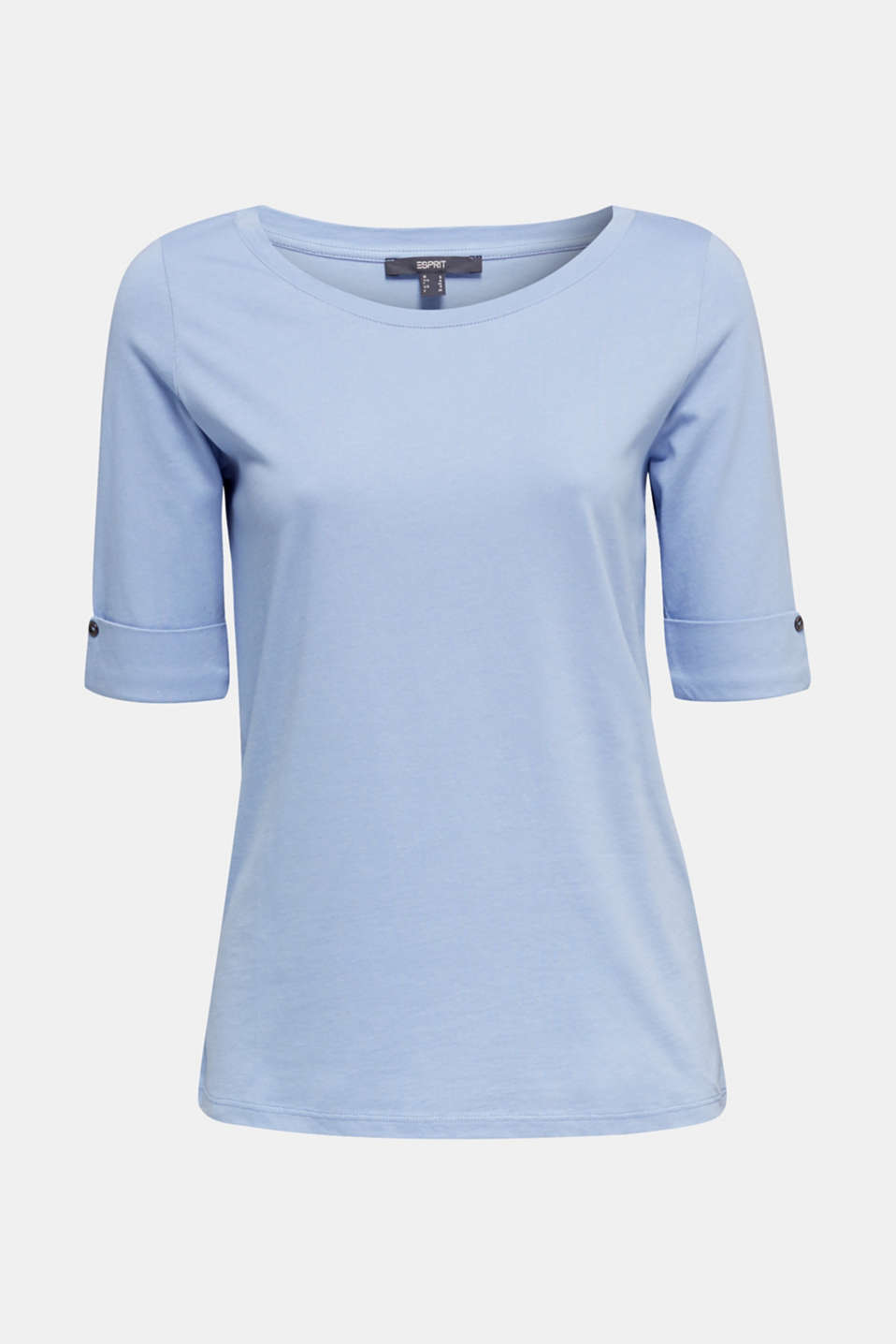 T-shirt with turn-up sleeves, BLUE LAVENDER, detail image number 6