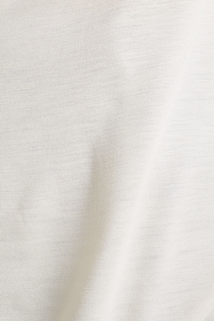 Long sleeve top with a fine sheen, SAND, detail image number 2