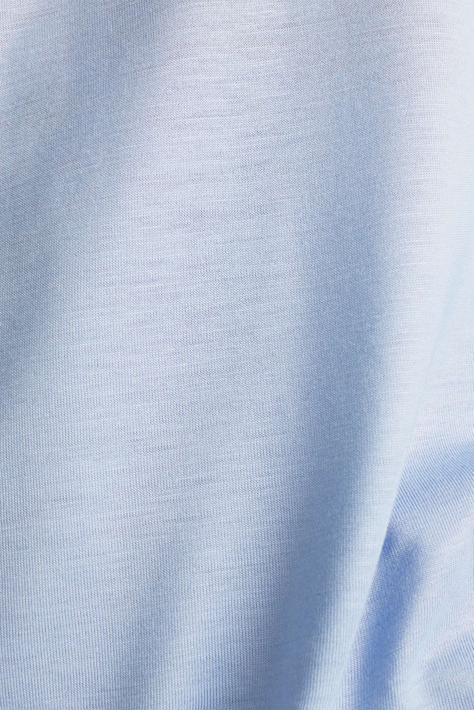 Long sleeve top with a fine sheen, BLUE LAVENDER, detail image number 4