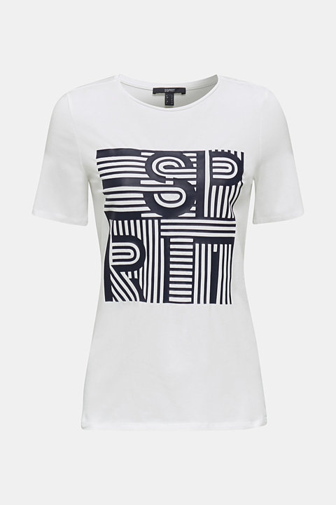 Printed stretch cotton T-shirt
