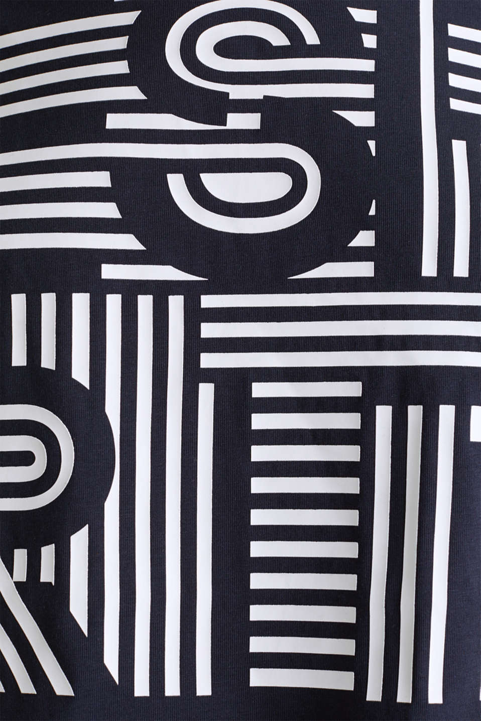 Printed stretch cotton T-shirt, NAVY, detail image number 4