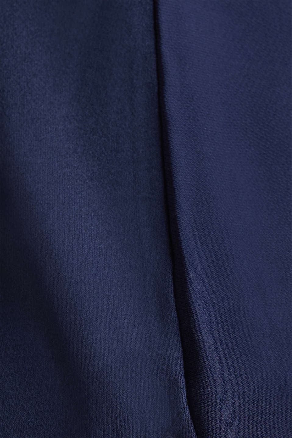 Blousy T-shirt in a material mix, NAVY, detail image number 4