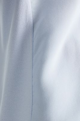 Blousy T-shirt in a material mix, PASTEL BLUE, detail