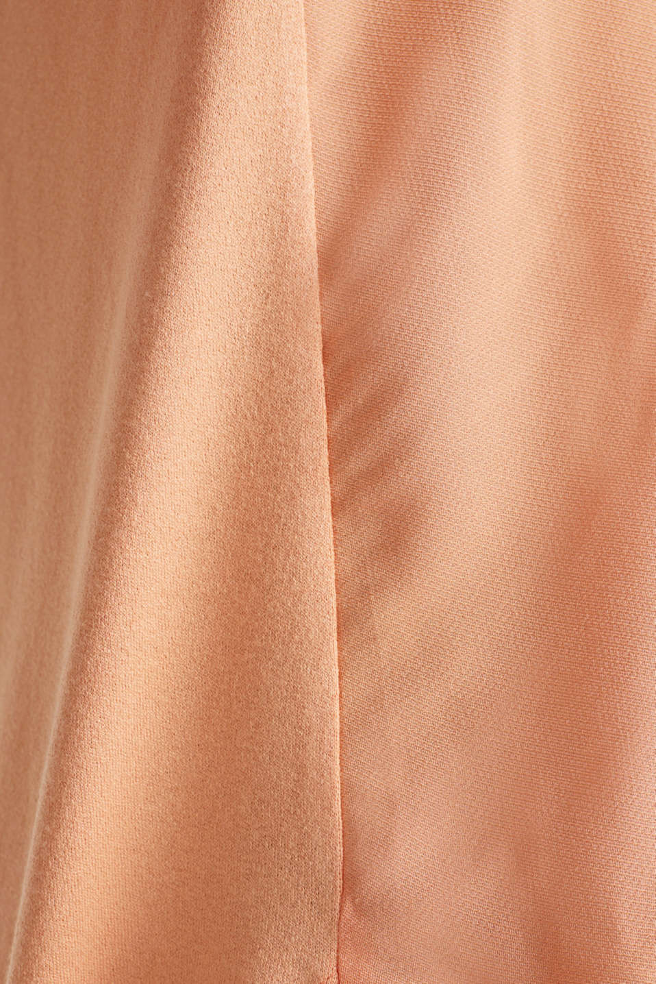 Blousy T-shirt in a material mix, ORANGE, detail image number 4