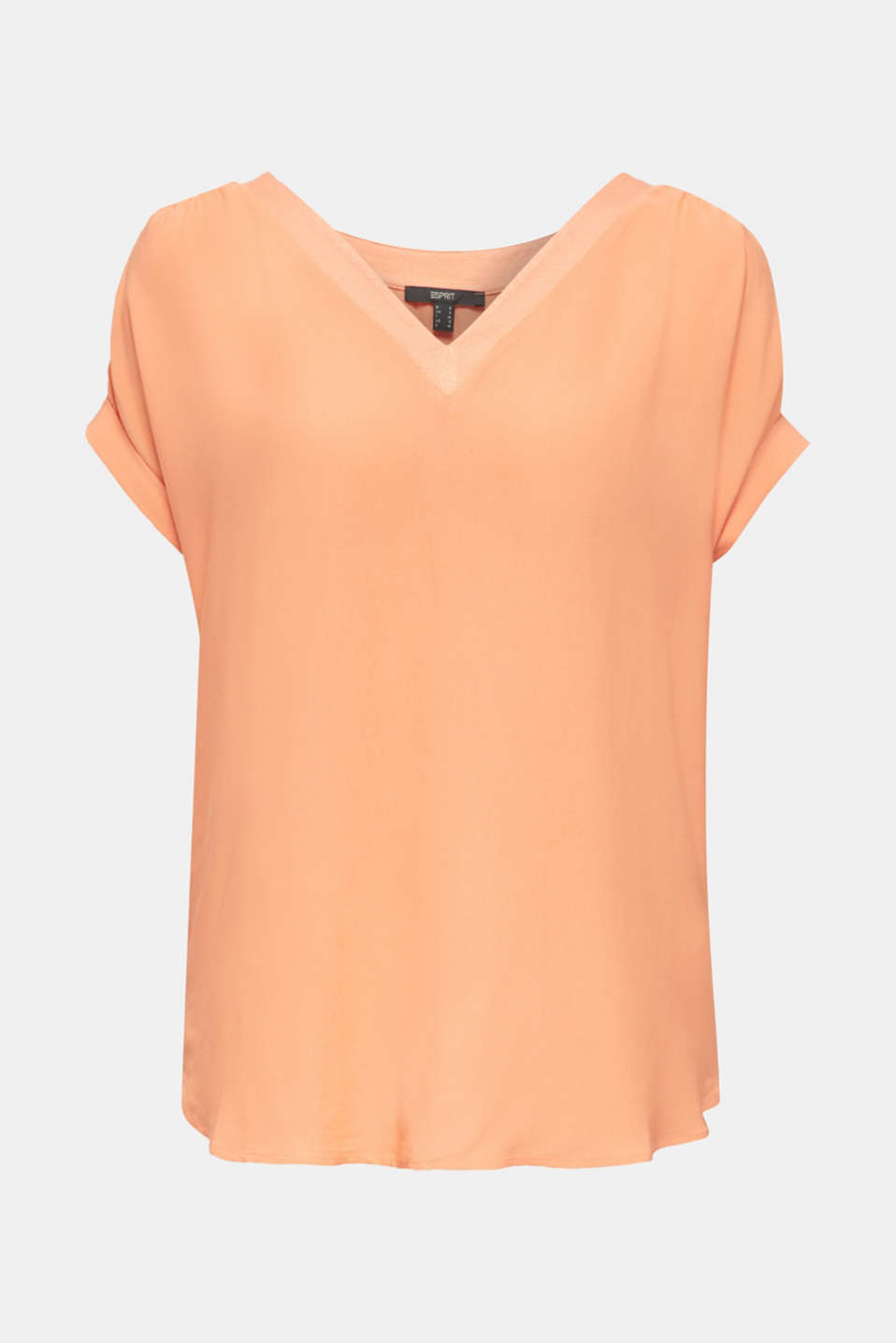 Blousy T-shirt in a material mix, ORANGE, detail image number 7