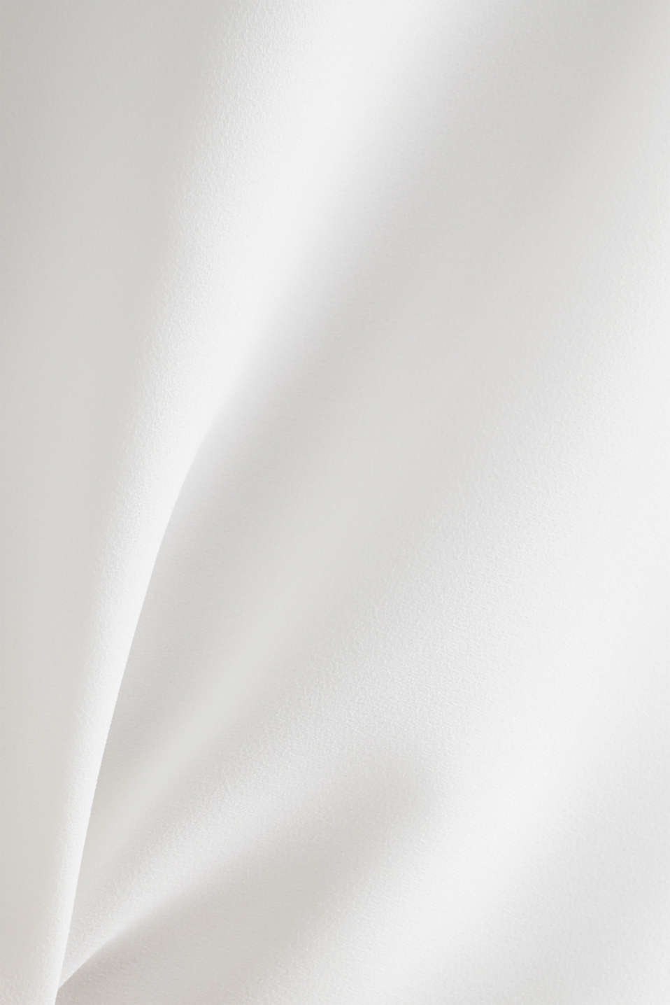 Long T-shirt made of jersey/chiffon, OFF WHITE, detail image number 3