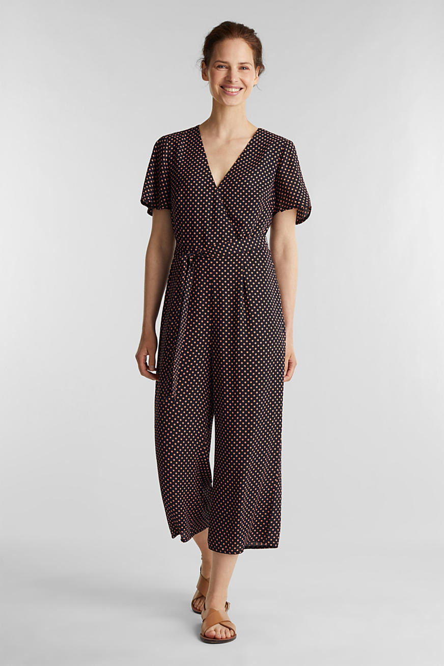 Jumpsuit met culotte pijpen en print all-over